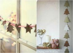 Papeis na decoração de natal