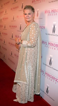 Judi Dench December 2005...if this shows Ms. Judys whole outfit its beautiful