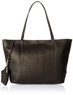Piel Leather Tote, Chocolate, One Size