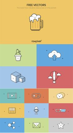 Download free cute minimal icons images at rawpixel.com Poster Layout, Book Layout, Free Vector Illustration, Illustrations, Scientific Poster Design, Cute Icons, Icon Design, Design Set, Lettering Design