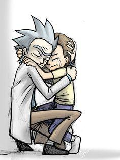 Beautifiq`~ Rick and Morty Hug by jameson9101322.deviantart.com on @DeviantArt