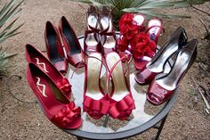 Bridesmaid shoes I love both sling backs but the ruffle ones are to die for  in a diff color of course