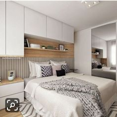 Home Bedroom Wardrobe Ideas For 2019 Condo Bedroom, Bedroom Wardrobe, Bedroom Decor, Fitted Bedroom Furniture, Fitted Bedrooms, Small Master Bedroom, Modern Bedroom, Apartment Design, Home Decor