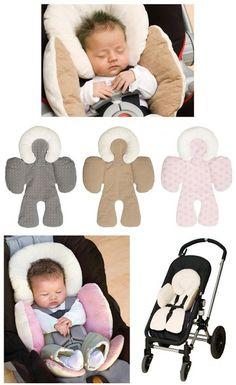 Super cute reversible baby stroller body support mat. #affiliatelink #baby #babystroller #allthingsbaby