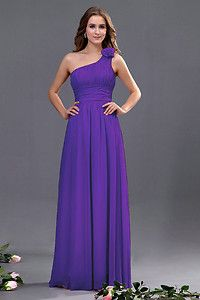 Bridesmaid One Shoulder with Flower Wedding Evening Party Prom Dress size 8 - 20 | eBay