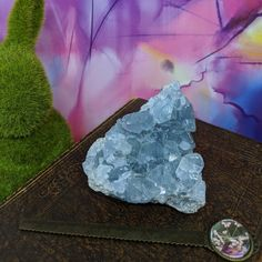 Celestite Cluster A Grade crystal clusters blue crystals ocean hues pretty crystals Blue Crystals, Crystals And Gemstones, Crystal Cluster, Amethyst, Ocean, Texture, Rock, Pretty, Crafts
