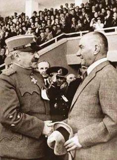 Yugoslavya Savunma Bakanı Orgeneral Lujibomir MARİÇ ile Ankara'da - 19 Mayıs 1938