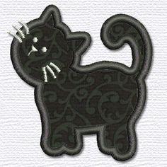 Adorable Applique cat applique