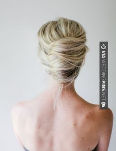 Wedding Updos for Long Hair Messy French Twist Hair Tutorial | Wedding Updos for Long Hair Ideas