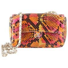 25b9a3e3f18af7 Chanel 00t Runway Mini Flap Multi Coloured Snakeskin Bag Clutch Cross Body  #crossbodyhandbags