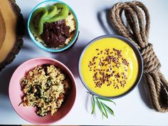 Hummus, Acai Bowl, Breakfast, Ethnic Recipes, Food, Diet, Acai Berry Bowl, Morning Coffee, Essen