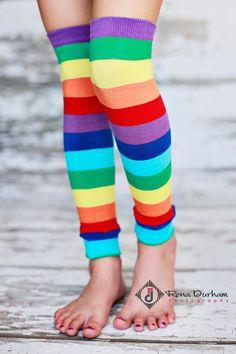 Home › BmodDesigns › Leg Warmers  Leg Warmers - Rainbow Stripes