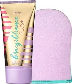 Tarte Brazilliance PLUS + Self-Tanner with Mitt - Fake a just-back-from-vacay bronze with this updated, skin-loving version of Tarte's best-selling Brazilliance Self-Tanner. Now infused with a powerfu (Tarte Best Products) Best Sunless Tanner, Sunless Tanners, Best Self Tanner, Natural Exfoliant, Skin Care Tips, Just In Case, Beauty Tips, Beauty Products, Beauty Hacks