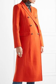 J.Crew - Collection Double-breasted Wool-blend Coat - Bright orange - US10
