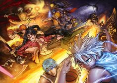Assassination Classroom x Code Geass x Death Note x Fairy Tail x Hunter x Hunter x Hitman REBORN! x Kuroko no Basuke x Detective Conan One Piece x Saint Seiya x Attac on Titan x Tokyo Ghoul x Toriko x Yu yu Hausho x Yu-Gi-Oh! x Bleach x Naruto