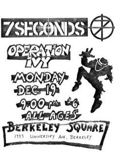 Music Flyer, Concert Flyer, Tour Posters, Band Posters, Punk Poster, Gig Poster, Operation Ivy, Alternative Hip Hop, Vintage Concert Posters