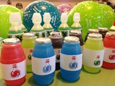 minecraft potions using Hugs jugs and easy to print labels