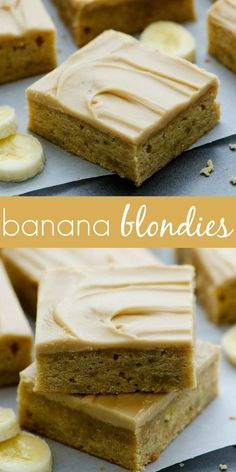 Move over banana bread, these easy and amazing blondies are the best! Move over banana bread, these easy and amazing blondies are the best! Banana Recipes Easy, Banana Dessert Recipes, Köstliche Desserts, Brownie Recipes, Cookie Recipes, Overripe Banana Recipes, Desserts With Bananas, Recipes With Bananas, Frozen Banana Recipes