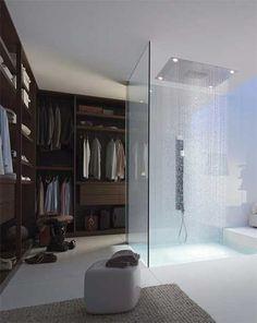 closet shower rainfall rich people