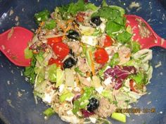 Das perfekte Bunter Sommersalat mit Tunfisch und Schafskäsedressing-Rezept mit einfacher Schritt-für-Schritt-Anleitung: Salatmischung Klassik ( aus dem…