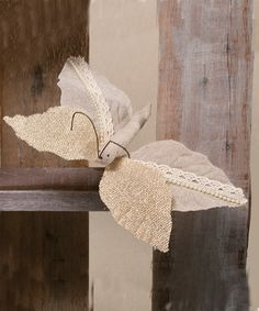 Look what I found on #zulily! Chantilly Burlap Butterfly - Set of Two #zulilyfinds