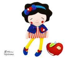 Snow White Sewing Pattern PDF Princess Doll by DollsAndDaydreams