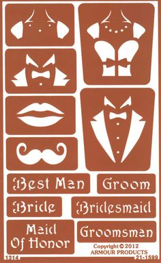 Stencil your wine glasses for a wedding.....Over N Over Wedding Celebration Stencil Kit #weddingidea