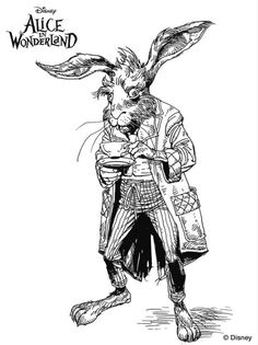 Image result for alice in wonderland coloring pages