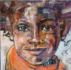 """Anna Kostenko, painting, """"The Boy"""" #art #PolishArtist"""