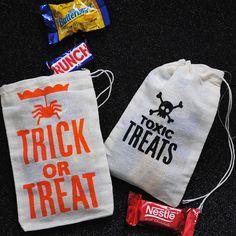 Halloween Muslin Treat Bag - Set of 2