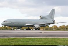 Grubby-looking Tristar about to vacate the runway after landing. - Photo taken at Brize Norton (BZZ / EGVN) in England, United Kingdom on October Ww2 Aircraft, Military Aircraft, Postwar, Number Two, Royal Air Force, Spacecraft, Transportation, Aviation, British
