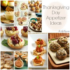 Thanksgiving Appetizers Round Up and sides, desserts, biscuits, turkey, potato and stuffing recipes