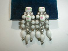 vintage czech milk glass mini chicklet stones by fadedglitter42263, $42.00
