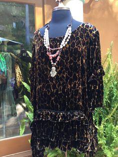 Mariposa Tunic in Leopard Velvet from Marrika Nakk