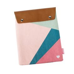 Happy iPad Sleeve. Keep her iPad protected in this gorgeous canvas iPad sleeve with beautiful leather closure.