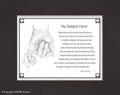 My Daddy or Grandpa\\\'s Hand Print Daddy poem
