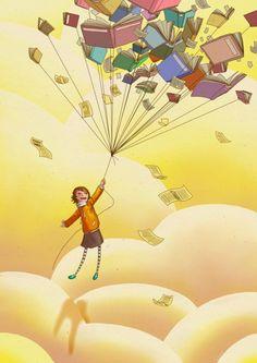 Descubri que la mejor forma de volar, era leyendo..