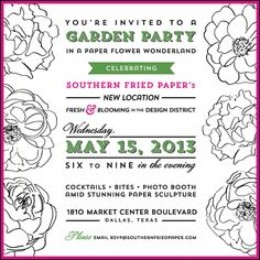Preppy garden party invite by southern fried paper