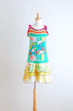 Upcycled Dress Children Clothing Upcycled by LittleOvercoat, $34.00