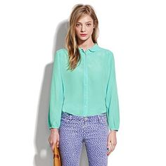 silk bookends blouse from madewell
