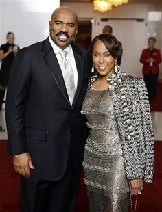 18 Best Steve Harvey Suit Style on the Red Carpet Wife And Kids, Style, Black Celebrities, Love Her Style, Fab Fashion, Steve Harvey Wife, Fashion, Love Couture, The Lady Loves Couture