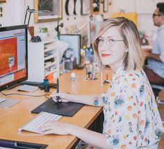 Meet Lady of the Day Jessica Hische! She is a letterer and type designer, who believes in finding your niche and always trying to be better in the crowded world of design (and in life). We love her because of her dedication to making it as her own in the freelance world.
