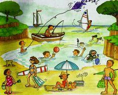 Gonzalo siempre tenía muy buenas vacaciones, cuentos para niños