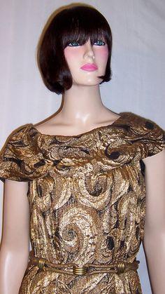 Black & Gold Lame Art #Deco Masterpiece of Wearable Art #Dress