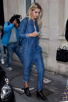 rad romper. #GigiHadid #offduty in Paris.
