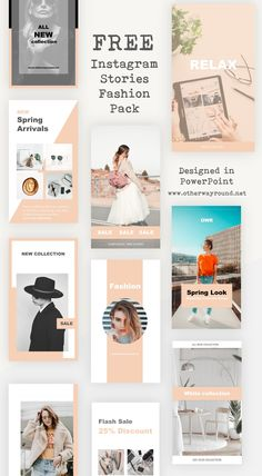 This Instagram Stories Fashion Pack pack comes with 10 ready to use free Instagram story templates, you can fully edit the templates to suit your own taste. The colours, typography and all other elements can be customized according to your needs. Instagram Layouts, Best Instagram Stories, Instagram Templates, Free Instagram, Instagram Story Template, Instagram Ideas, Instagram Feed, Social Media Quotes, Social Media Graphics
