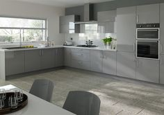 Lewes High Gloss Anthracite Kitchen Doors from Kitchen Door Workshop