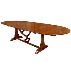 Blonde cherry wood Table de Vigneron Table
