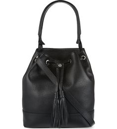 SANDRO Medium bucket bag (Black