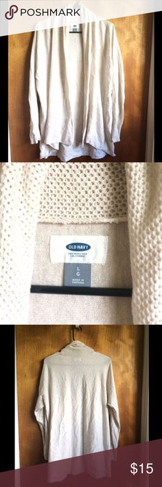 Xl white old navy cardigan White Open front cardigan Old Navy Sweaters Cardigans
